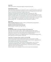 Nursing Resume Example Custom Nursing School Resume Objective Examples Er Nurse Of Postpartum Mid