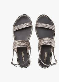 les tropeziennes flat braided leather sandals