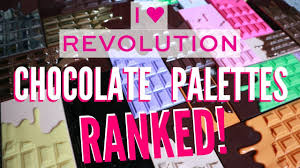 i heart revolution chocolate palettes best to worst every palette hollife