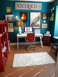 eclectic home office. Picture Collection And Bright Color Scheme Of The Home Office Leave You Mesmerized Eclectic