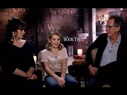 the book thief official trailer cast interview sophie nelisse  the book thief official trailer cast interview sophie nelisse geoffrey rush emily watson