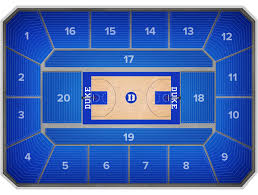 Duke Basketball Seating Chart 65 Reasonable Unc Basketball Stadium Seating Chart