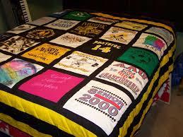 A t-shirt quilt! I'd like a t-shirt quilt made with all my old ... & A t-shirt quilt! I'd like a t-shirt quilt made Adamdwight.com