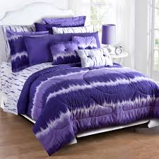 purple tie dye comforter sham set