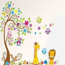 giant wall decals for baby s room nursery girls or boys room decoration forest owls giraffe flower tree wall art murals word wall art word wall decals from  on baby boy room decor wall art with giant wall decals for baby s room nursery girls or boys room