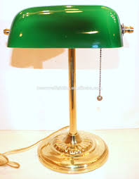 table lamp emerald green glass solid brass stand vintage whole for marvellous solid brass table