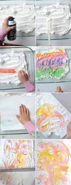 learn how to make shaving cream marbled paper with the kids on aliceandlois com