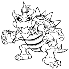 Bowser And Bowser Jr Coloring Pages Color Bros