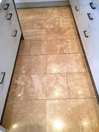 Travertine Tile Kitchen Floor Cracked Travertine Tiled Kitchen Floor Maintained In Didsbury