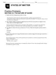 Worksheet : Worksheet Calculations Involving Specific Heat ...