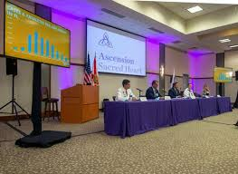 PHOTOS: Governor holds COVID19-press conference at Ascension Sacred Heart  Hospital