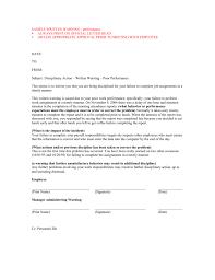 Sample Written Warning Always Print On Official