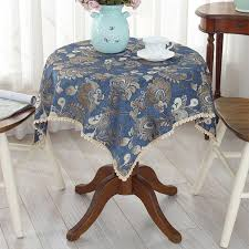 us wire woven tablecloth table tablecloth fabric cover cloth bedside cabinet glass yarn round table small
