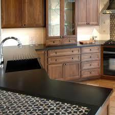 absolute black honed granite slab