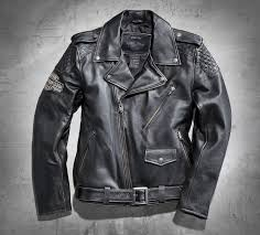 harley mens vintage leather biker jacket