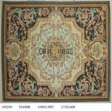 flat weave aubusson carpet 9 x 12 ivory field black border authentic 100 new zealand wool french gc4aub103