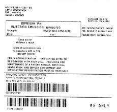 Diprivan Dosage Chart Diprivan 1 Injection Emulsion Propofol 10 Mg Ml