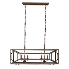 lighting island. feiss lighting marquelle weathered iron island light with rectangle shade l