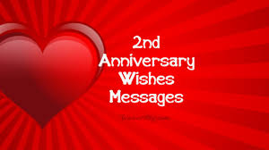 2nd Anniversary Wishes Messages And Quotes Wishesmsg