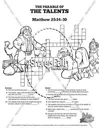 The Parable Of The Talents Sunday School Coloring Pages Sunday