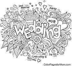 Wedding Day Coloring Book And Printable Wedding Coloring Book Pages