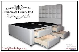 Esmeralda Luxury Bed 8 Drawers Lovely Furnishings Storage