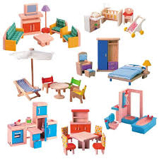 dollhouse furniture sets. wooden dollhouse furniture group sets