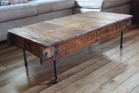 recycled wood furniture. exclusive wood and iron coffee table can be a real decoration recycled furniture