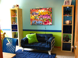 Hip Hop Boys Bedroom Pre Teen Navy Aqua Orange Enchanting - Hip hop bedroom furniture
