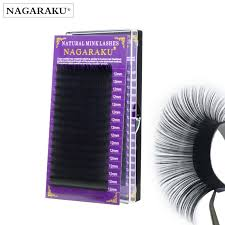 Fake Eyelash Size Chart Nagaraku High Quality Mink Eyelash Extension Fake Eyelash Extension False Eyelashes Individual Eyelashes