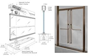13fp120rb crl blumcraft oil rubbed bronze 1301 entry door 1 2 glass w fixed closer and standard top pivot entry with panic
