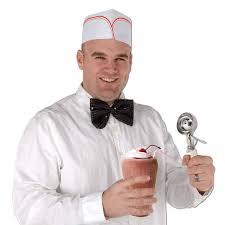 Ice Cream Server Amazon Com Soda Jerk Hats 4 Pkg Party Decorations Kitchen Dining