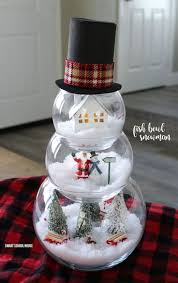 indoor christmas decorating ideas home. fish bowl snowman - diy craft for a beautiful and unique indoor christmas decoration. adorable decorating ideas home
