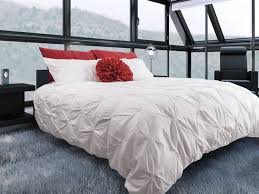 victoria pintuck duvet cover set home apparel with regard to white inspirations 6