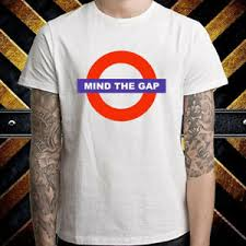 Details About Mind The Gap London Subway Caution Mens White T Shirt Size S To 3xl