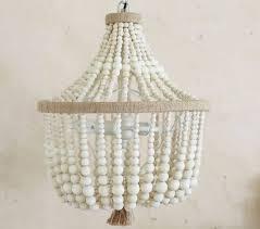 white washedhandelier the block nz mardi gras diy wood farmhouse lighting bead chandelier pottery barn australia