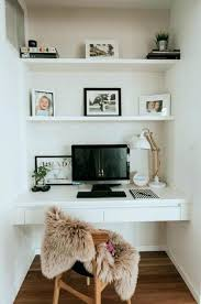 small closet office ideas. Small Closet Office Desk Ideas With Floating Computer And Wooden