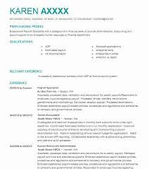 Best Ideas of Payroll Resume Samples For Resume Sample
