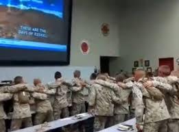 """Resultado de imagen para EE.UU.- Soldados Cantan """"Días de Elías"""" en Cuartel Militar"""