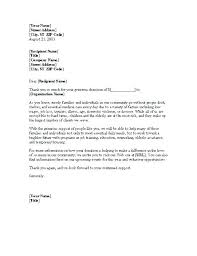 Before Donor Thank You Letter Fundraiser Example For Food W