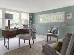 best office wall colors. Coastal Home Office 1-walls: Stratton Blue (HC-142), Trim Best Wall Colors E