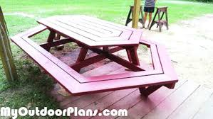 large picnic table round