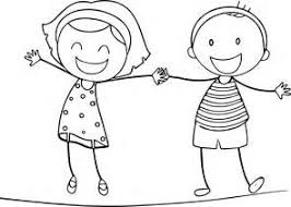 Small Picture Outline Of A Boy And Girl Coloring Pages isrs2011