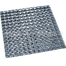 china glass mirror tiles in grey color mosaic tile frame