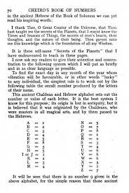 Cheiros Book Of Numbers The Impious Digest