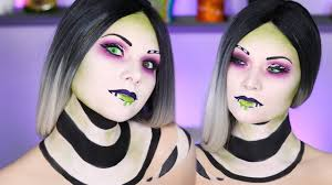 glam beetlejuice makeup tutorial 2016 you