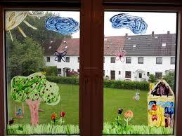 Fensterbild Mit Fingerfarben Diy Der Familienblog Für Kreative Eltern