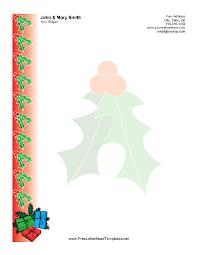 Christmas Letterhead Template Christmas Letterhead With Holly