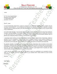 teaching cover letter format preschool teacher cover letter sample application letter example