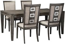 dining room tables with chairs signature design by ashley chadoni 5 piece contemporary rectangular of